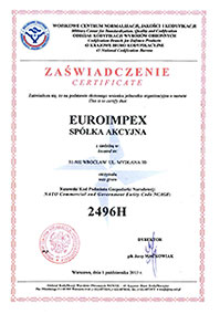 Euroimpex-certyfikat-nato