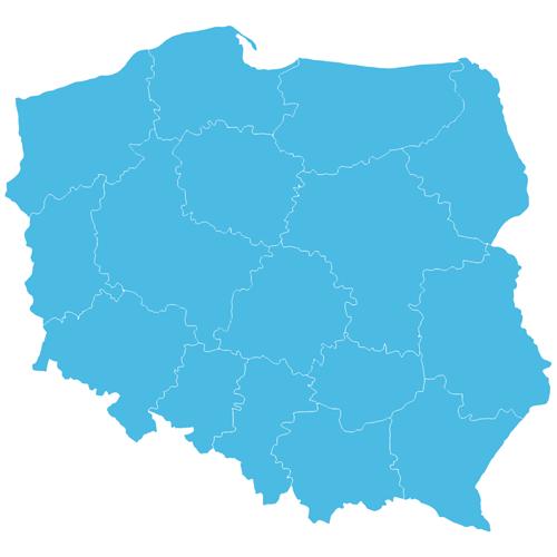 Mapa Polski dotacje dla szkół